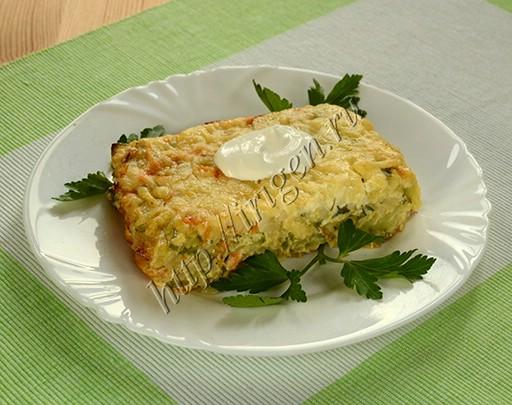 запеканка кабачковая с рисом