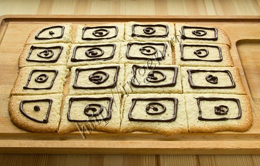 приготовление печенья Легкого с кунжутом