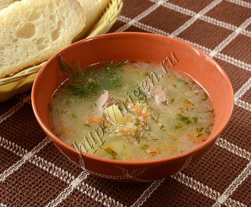 суп с индейкой и ячневой крупой