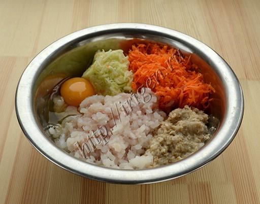 приготовление рыбных котлет с овощами