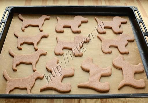 Пряники-собачки перед выпечкой