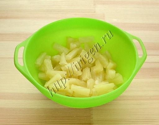 подготовка ананаса