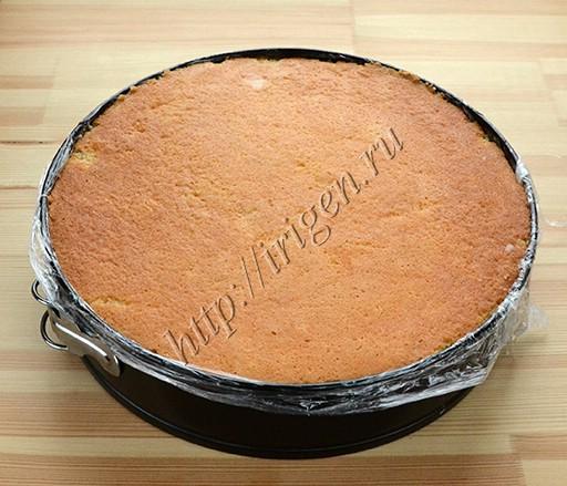 торт перед охлаждением