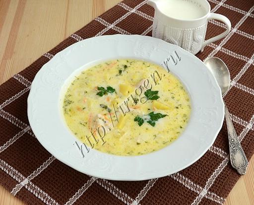 куриный суп с рисом и сливками