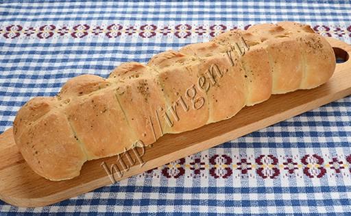 хлеб постный гусеничка