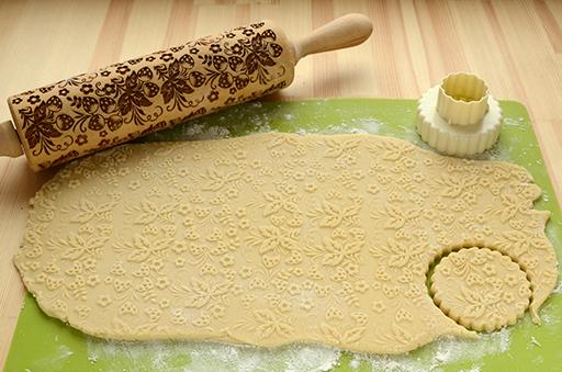 приготовление узорного печенья