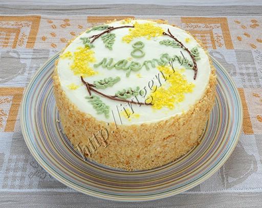торт на сгущенке весенний