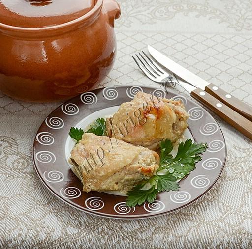 курица в горшочке со сливками