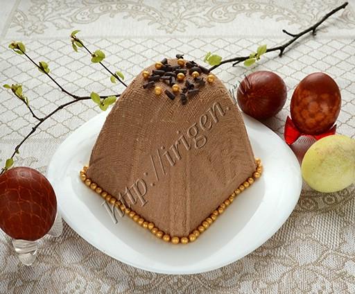 творожная пасха с шоколадом