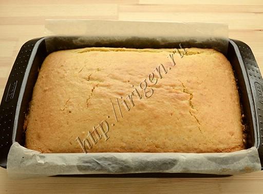 пирог на белках после выпечки