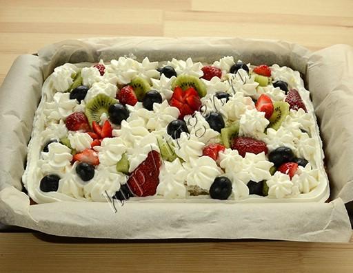пирог со сливками на белках