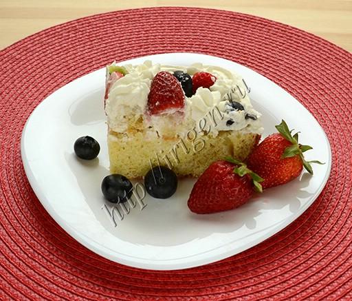 пирог молочный на белках