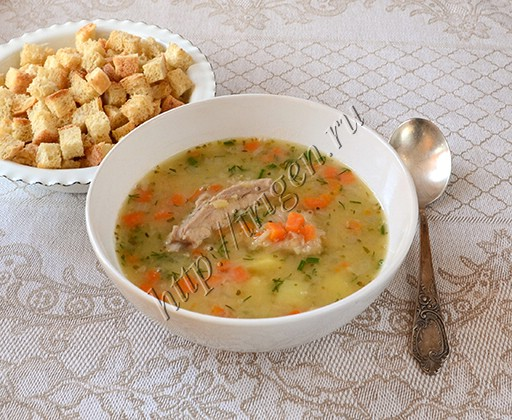 суп гороховый с ребрышками в мультиварке