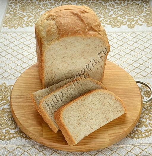 хлеб пшеничный с отрубями на сыворотке