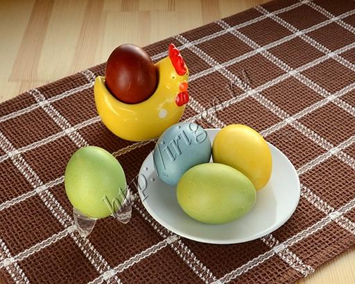 как покрасить яйца в зелёный цвет