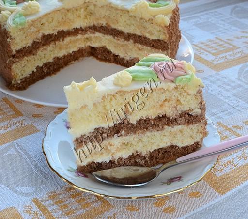 торт бисквитный с кремом пломбир
