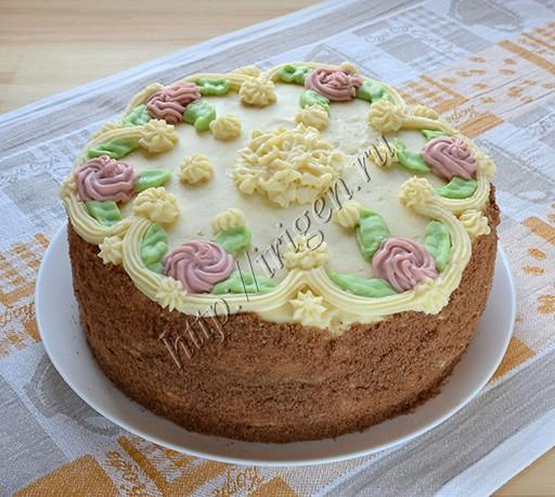 бисквитный торт с кремом пломбир