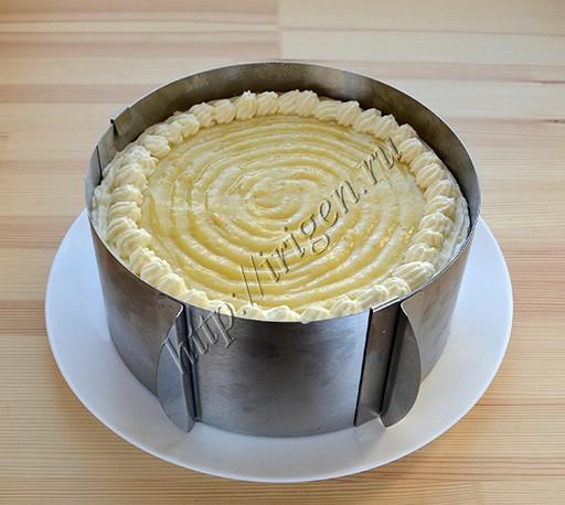 сборка торта в кольце