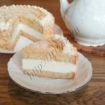 грушевый торт в разрезе