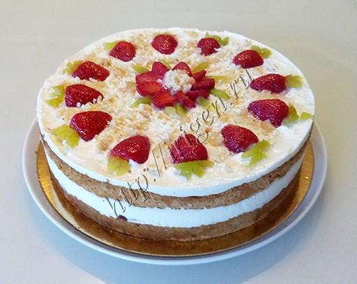 торт ласковый май с клубникой