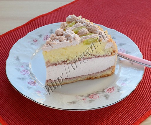 клубничный торт нежный