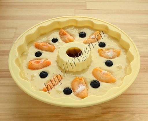 приготовление кекса на сливках с фруктами
