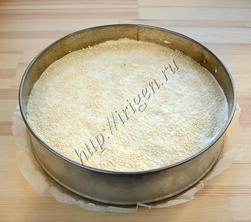 наливной пирог перед выпечкой