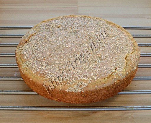 наливной пирог после выпечки