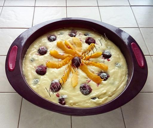 приготовление универсального фруктово-ягодного пирога