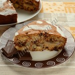 пирог с грушей и шоколадом