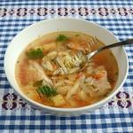 куриный суп с пастой орзо