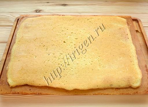 белковый бисквит после выпечки
