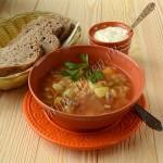 суп мясной с баклажаном