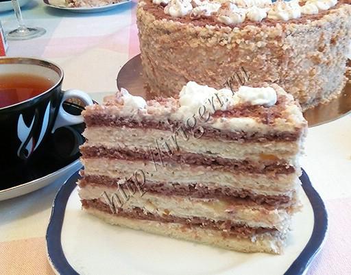 торт сентябринка - разрез
