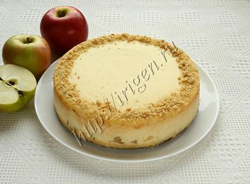 чизкейк яблочный