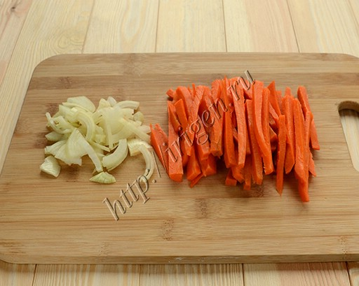 приготовление гарнира из моркови