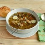суп перловый из индейки с грибами