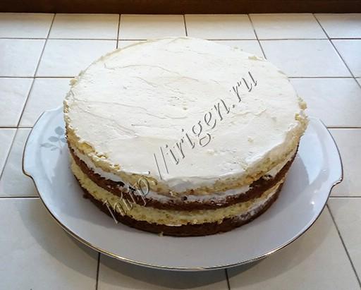 приготовление торта грибная полянка