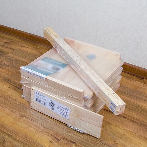 комплект стеллажа в магазинной упаковке