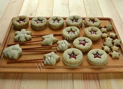 новогоднее печенье с маком
