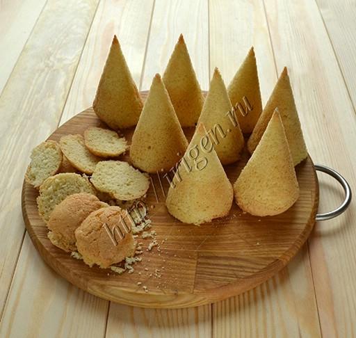 бисквитные елочки