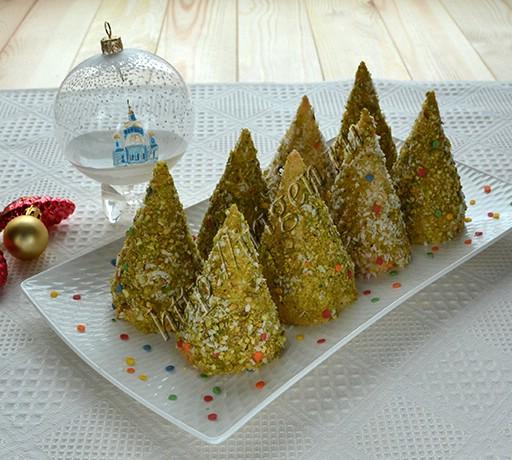пирожные бисквитные елочки