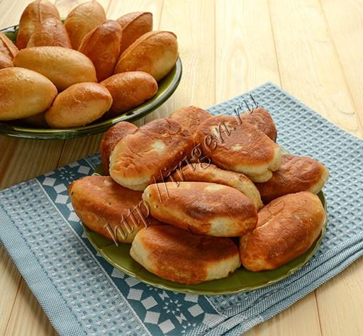 пирожки печеные и жареные из теста на ряженке
