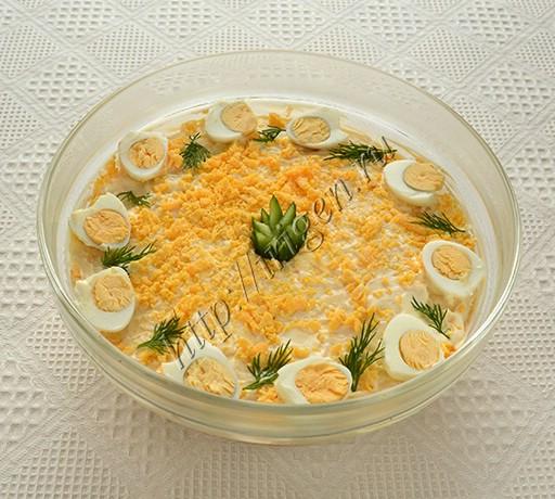 салат слоеный французский