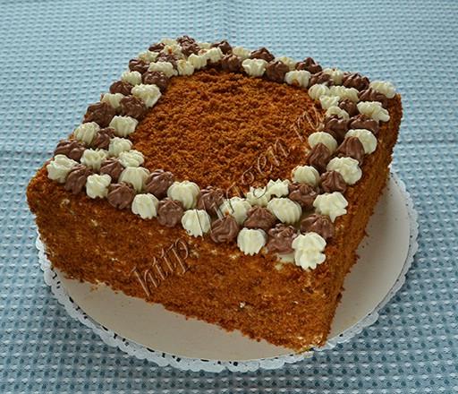 медовый наливной торт