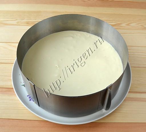 слой мусса с белым шоколадом