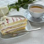 торт малина - белый шоколад