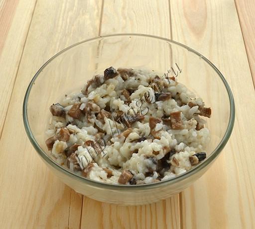 начинка из риса и грибов