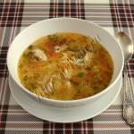 куриный суп с кабачком и пастой орзо
