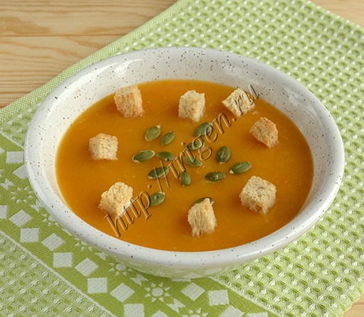 суп-пюре овощной постный